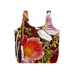 Flower Hostanamone Drawing Plant Full Print Recycle Bags (s)