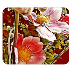 Flower Hostanamone Drawing Plant Double Sided Flano Blanket (small)