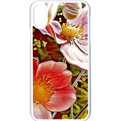 Flower Hostanamone Drawing Plant Apple Iphone X Seamless Case (white)