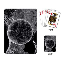 Space Universe Earth Rocket Playing Card