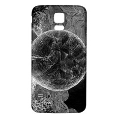Space Universe Earth Rocket Samsung Galaxy S5 Back Case (white)
