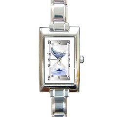 Time Water Movement Drop Of Water Rectangle Italian Charm Watch