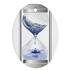 Time Water Movement Drop Of Water Ornament (oval)
