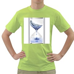 Time Water Movement Drop Of Water Green T Shirt