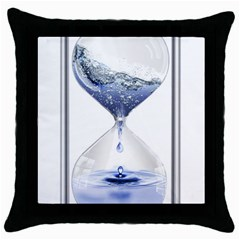 Time Water Movement Drop Of Water Throw Pillow Case (black)