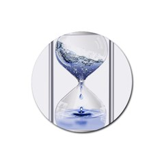 Time Water Movement Drop Of Water Rubber Coaster (round)