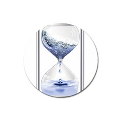 Time Water Movement Drop Of Water Magnet 3  (round)
