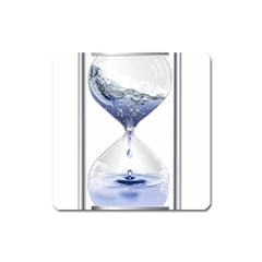 Time Water Movement Drop Of Water Square Magnet