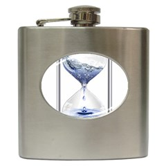 Time Water Movement Drop Of Water Hip Flask (6 Oz)