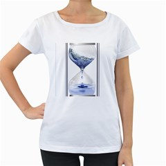 Time Water Movement Drop Of Water Women s Loose Fit T Shirt (white)