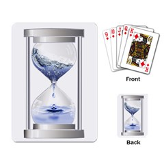 Time Water Movement Drop Of Water Playing Card