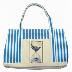 Time Water Movement Drop Of Water Striped Blue Tote Bag