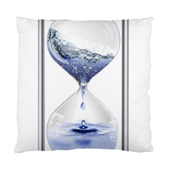 Time Water Movement Drop Of Water Standard Cushion Case (two Sides)