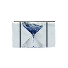 Time Water Movement Drop Of Water Cosmetic Bag (small)