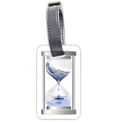 Time Water Movement Drop Of Water Luggage Tags (one Side)