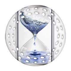 Time Water Movement Drop Of Water Ornament (round Filigree)