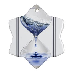 Time Water Movement Drop Of Water Snowflake Ornament (two Sides)