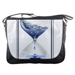 Time Water Movement Drop Of Water Messenger Bags