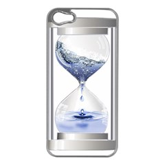 Time Water Movement Drop Of Water Apple Iphone 5 Case (silver)