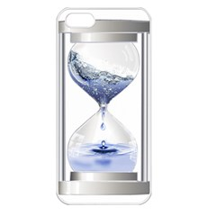 Time Water Movement Drop Of Water Apple Iphone 5 Seamless Case (white)