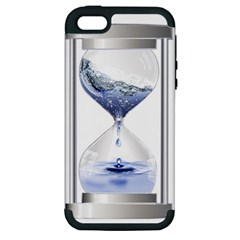 Time Water Movement Drop Of Water Apple Iphone 5 Hardshell Case (pc+silicone)