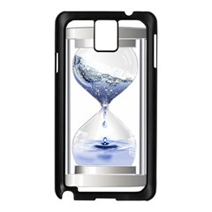 Time Water Movement Drop Of Water Samsung Galaxy Note 3 N9005 Case (black)