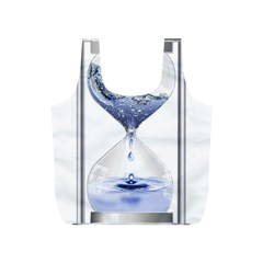 Time Water Movement Drop Of Water Full Print Recycle Bags (s)