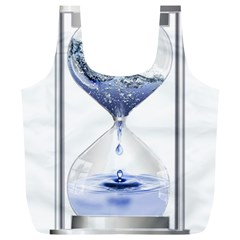 Time Water Movement Drop Of Water Full Print Recycle Bags (l)