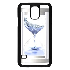 Time Water Movement Drop Of Water Samsung Galaxy S5 Case (black)