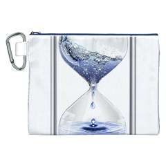 Time Water Movement Drop Of Water Canvas Cosmetic Bag (xxl)