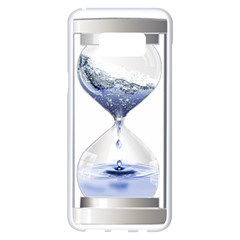 Time Water Movement Drop Of Water Samsung Galaxy S8 Plus White Seamless Case