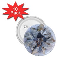 Winter Frost Ice Sheet Leaves 1 75  Buttons (10 Pack)