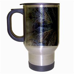 Winter Frost Ice Sheet Leaves Travel Mug (silver Gray)