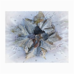 Winter Frost Ice Sheet Leaves Small Glasses Cloth (2 Side)