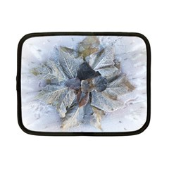 Winter Frost Ice Sheet Leaves Netbook Case (small)