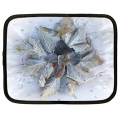 Winter Frost Ice Sheet Leaves Netbook Case (xxl)
