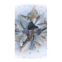 Winter Frost Ice Sheet Leaves Memory Card Reader