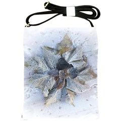 Winter Frost Ice Sheet Leaves Shoulder Sling Bags