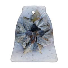 Winter Frost Ice Sheet Leaves Ornament (bell)