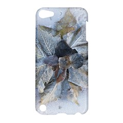 Winter Frost Ice Sheet Leaves Apple Ipod Touch 5 Hardshell Case