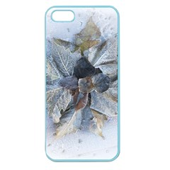 Winter Frost Ice Sheet Leaves Apple Seamless Iphone 5 Case (color)