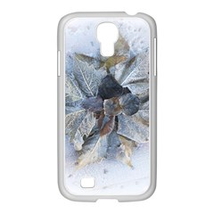 Winter Frost Ice Sheet Leaves Samsung Galaxy S4 I9500/ I9505 Case (white)
