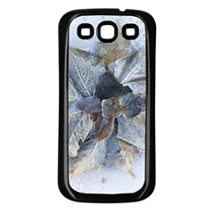 Winter Frost Ice Sheet Leaves Samsung Galaxy S3 Back Case (black)