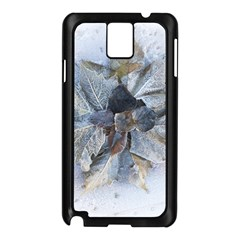 Winter Frost Ice Sheet Leaves Samsung Galaxy Note 3 N9005 Case (black)