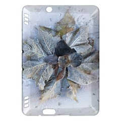 Winter Frost Ice Sheet Leaves Kindle Fire Hdx Hardshell Case