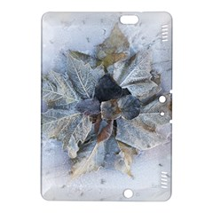Winter Frost Ice Sheet Leaves Kindle Fire Hdx 8 9  Hardshell Case