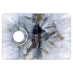 Winter Frost Ice Sheet Leaves Kindle Fire Hdx Flip 360 Case