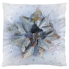 Winter Frost Ice Sheet Leaves Standard Flano Cushion Case (one Side)