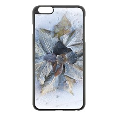 Winter Frost Ice Sheet Leaves Apple Iphone 6 Plus/6s Plus Black Enamel Case