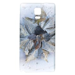 Winter Frost Ice Sheet Leaves Galaxy Note 4 Back Case